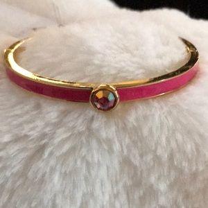 NWT ♠️Kate Spade Pink crystal hinged bracelet ♠️